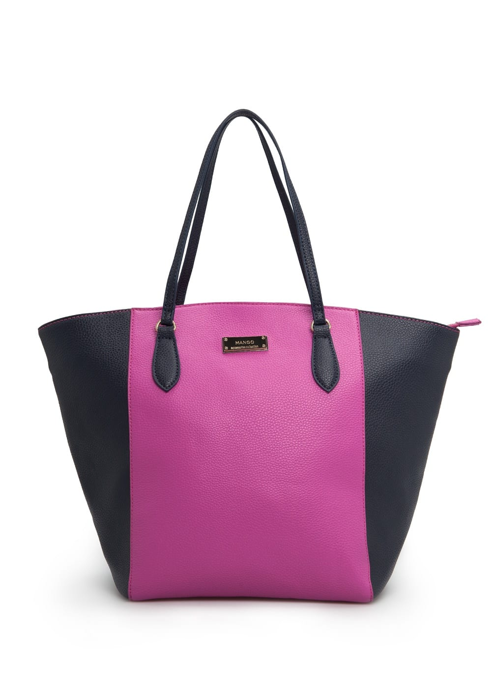 Bicolor shopper bag | MANGO