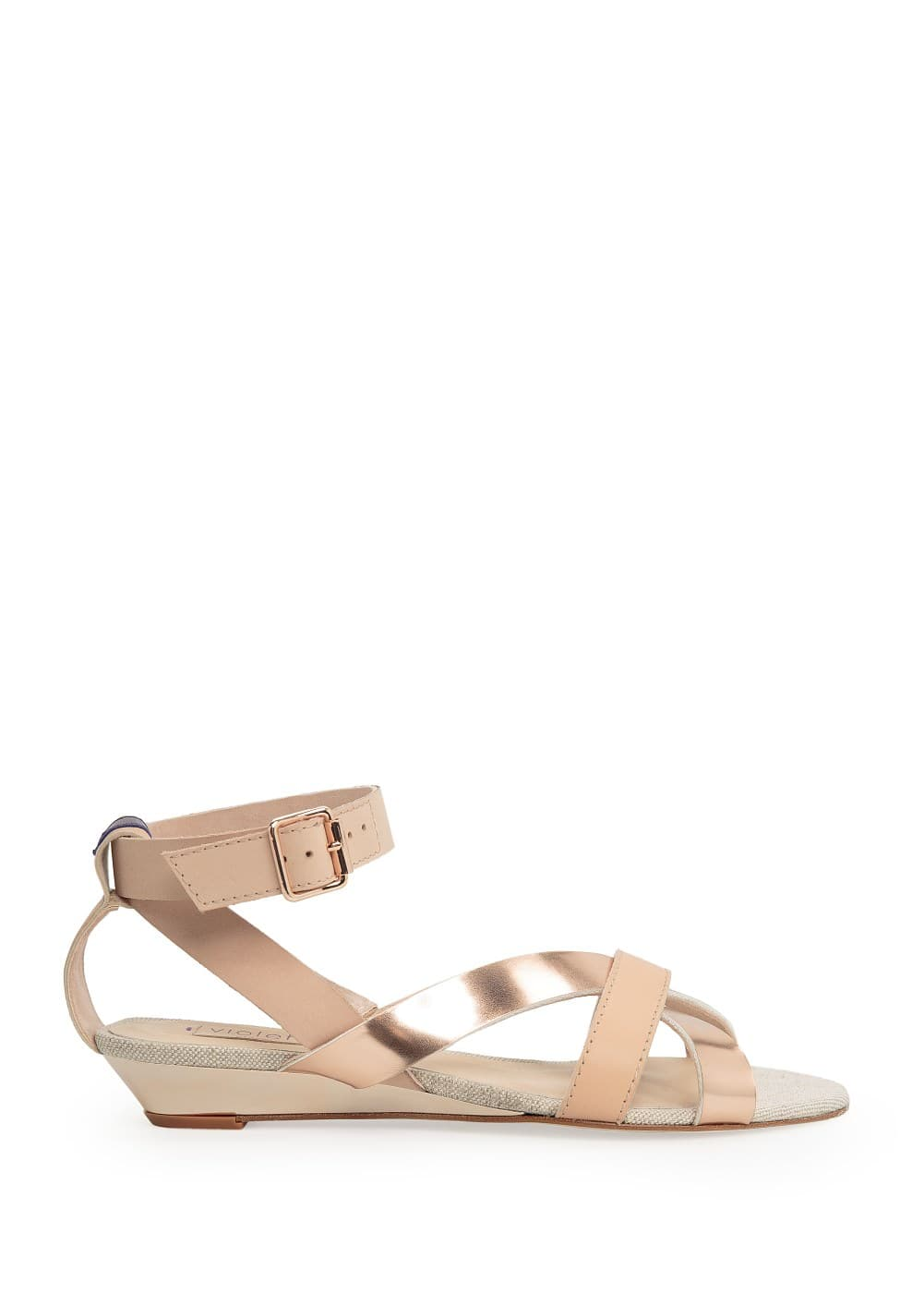 Metallic detail sandals | MANGO