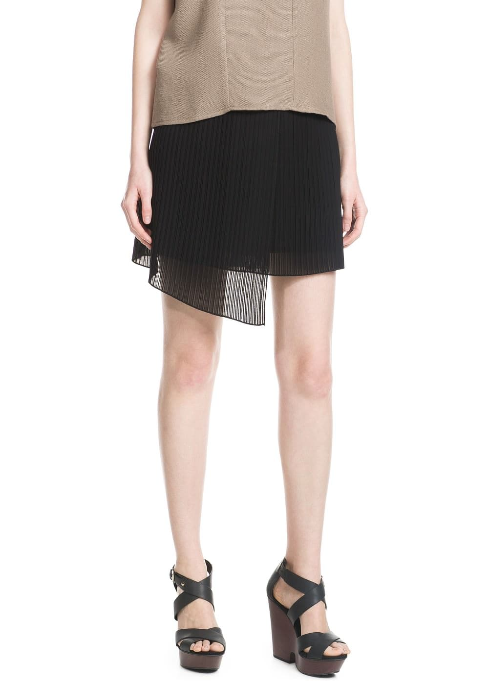 Pleated wrap skirt | MANGO