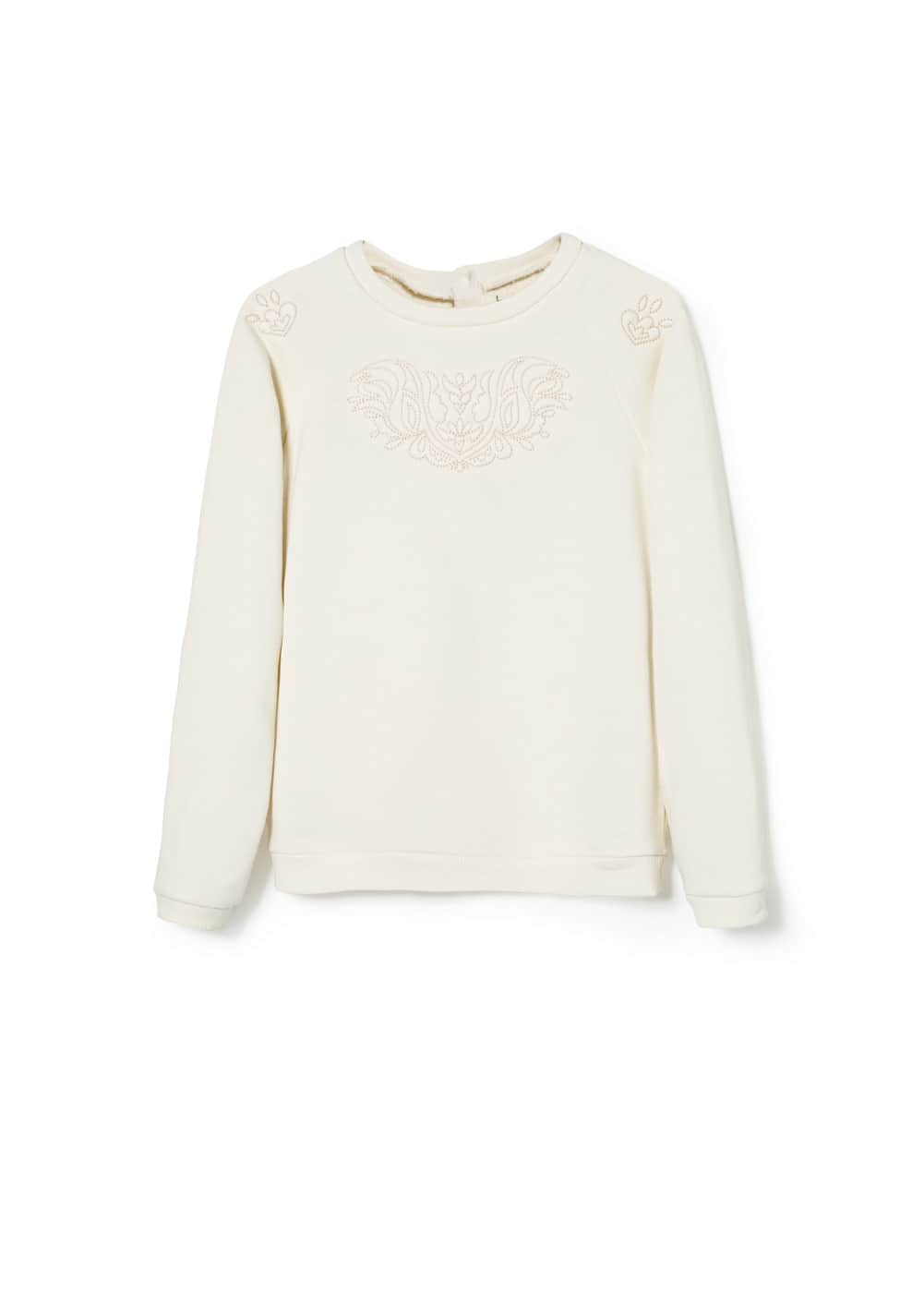 Stitch detail sweatshirt | MANGO KIDS