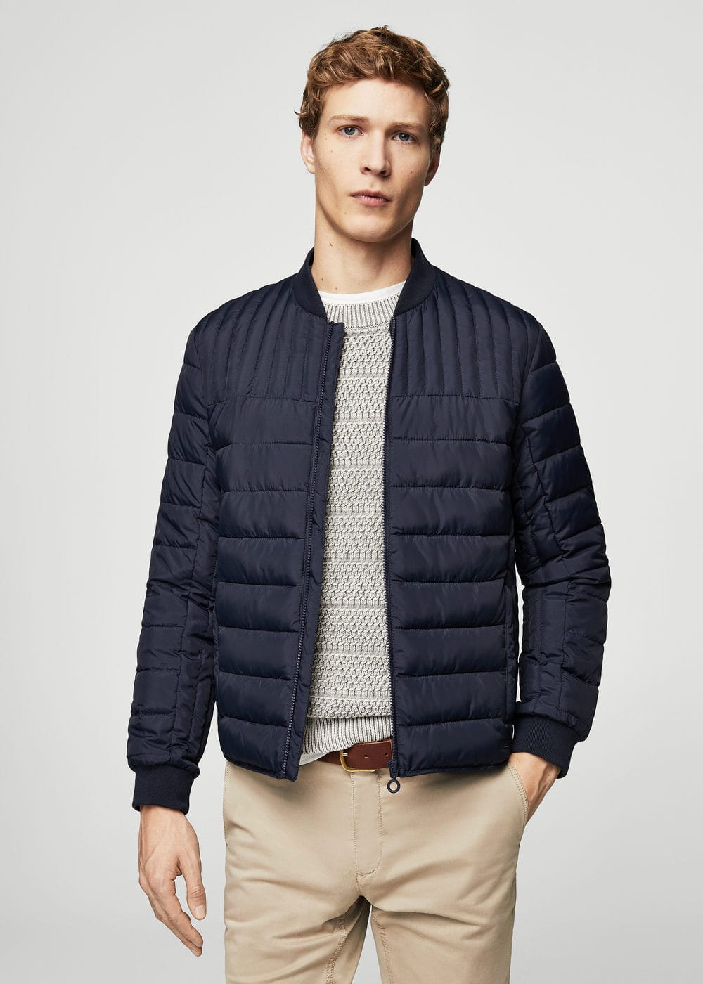 Quilted bomber jacket | MANGO MAN
