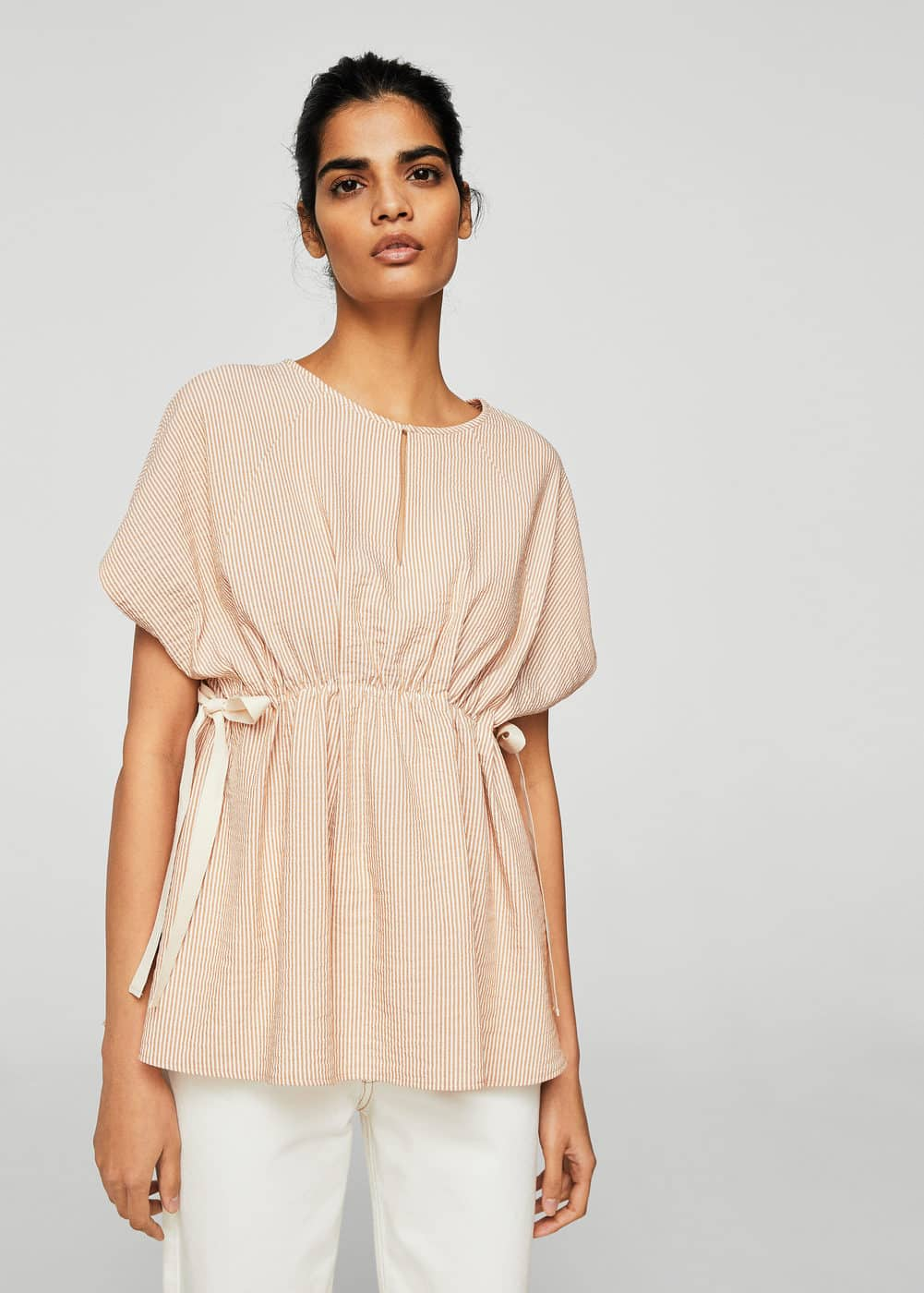 Ruched detail blouse | MANGO