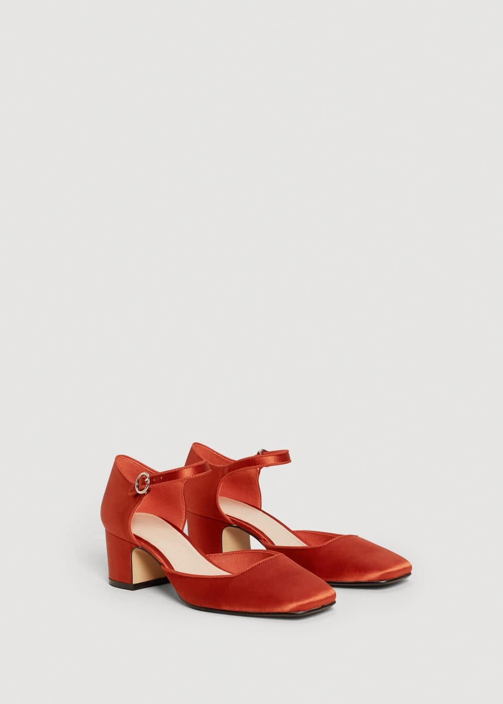 Satin ankle strap shoes | MNG
