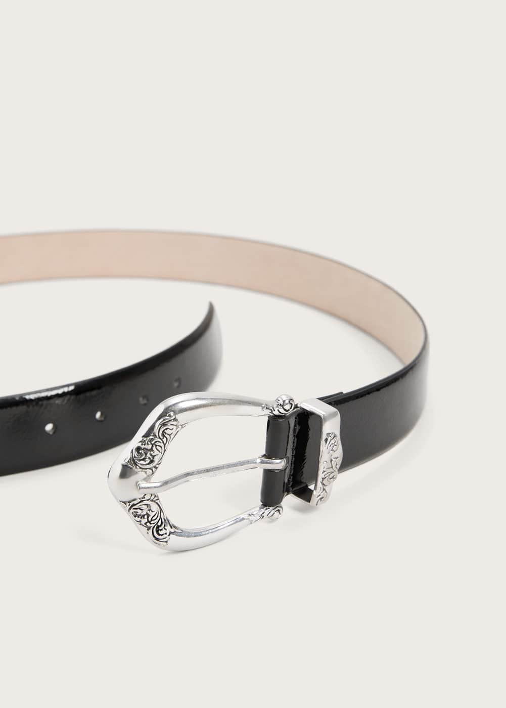 Metal buckle belt | VIOLETA BY MANGO