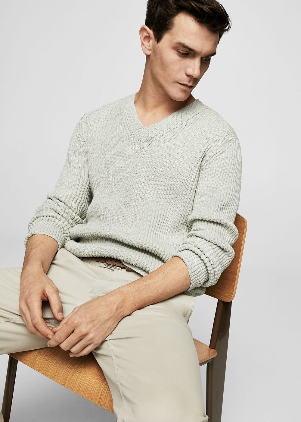 Chunky-knit sweater | MANGO MAN