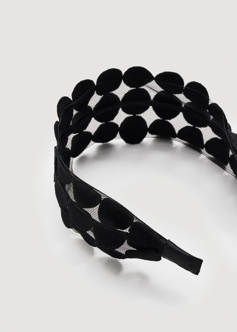 Mesh pattern detail hairband | MANGO