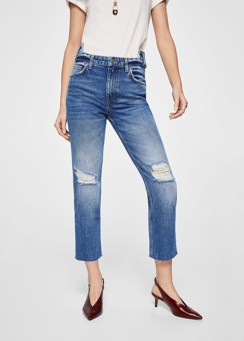 Cameo relaxed jeans | MANGO