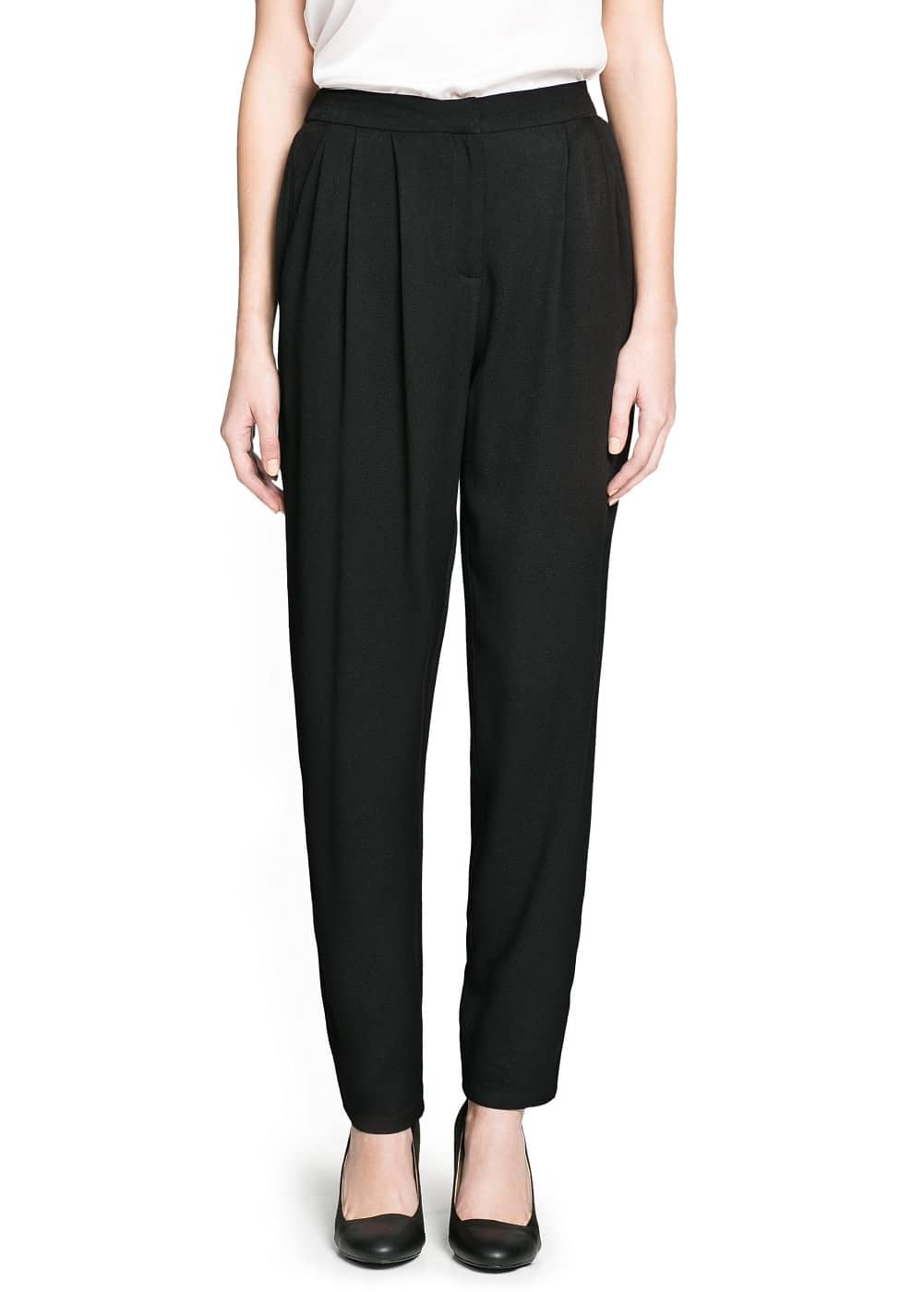 Crepe baggy trousers | MANGO