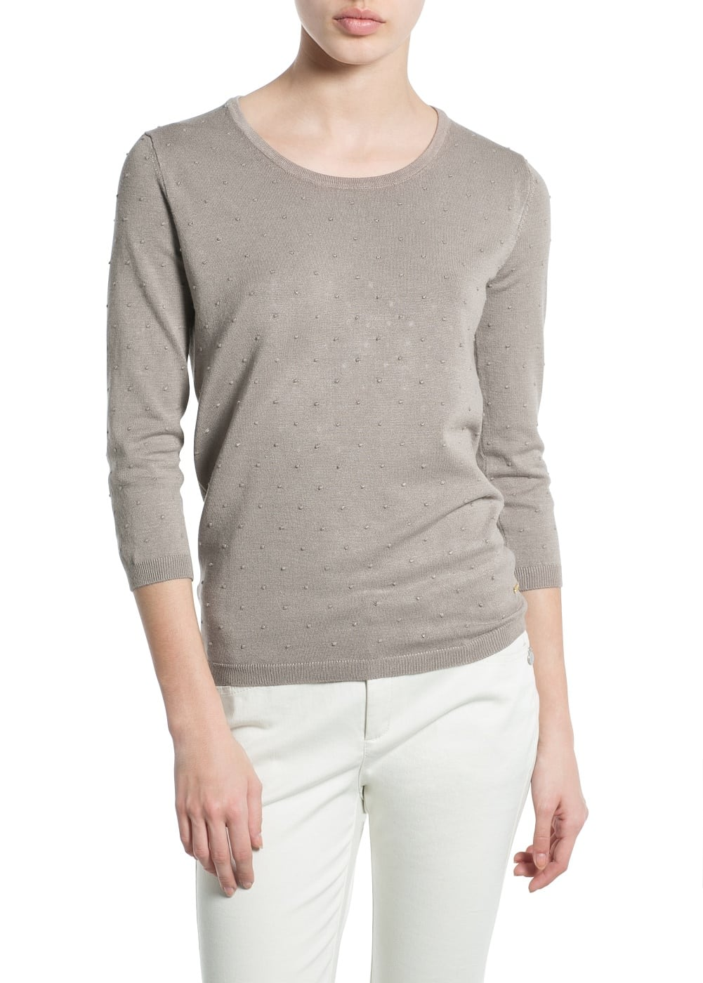 Embossed polka-dot sweater | MANGO