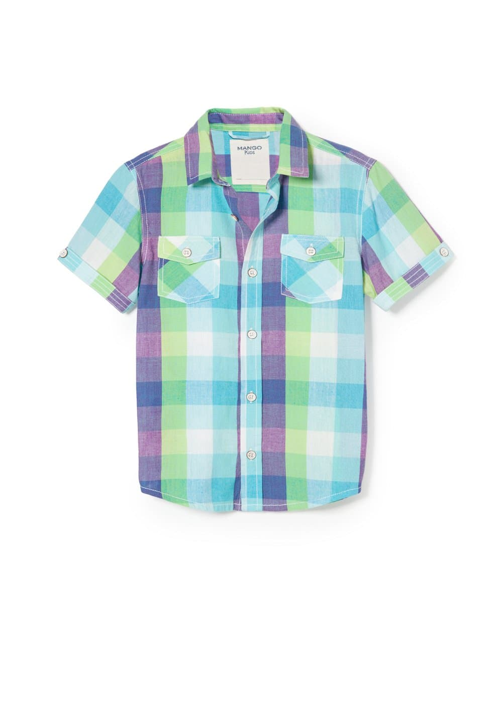 Check multicolor shirt | MANGO KIDS
