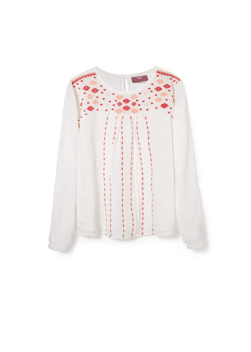 Embroidered motif blouse | MANGO KIDS