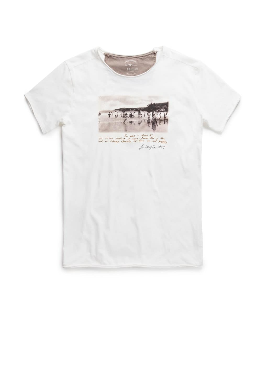 The hamptons print t-shirt | MANGO