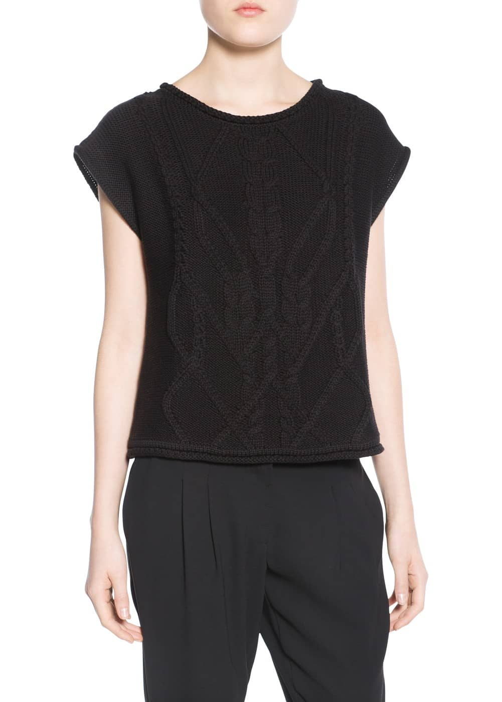 Cable-knit top | MANGO