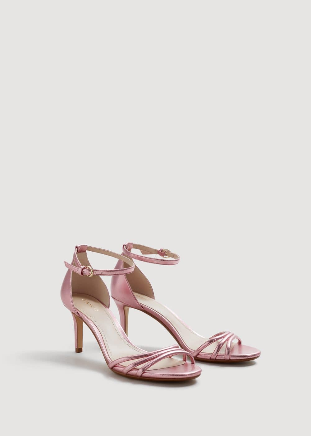 Metallic heel sandals | MANGO