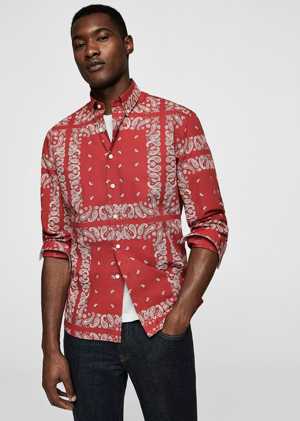 Camisa regular-fit estampado paisley | MANGO MAN