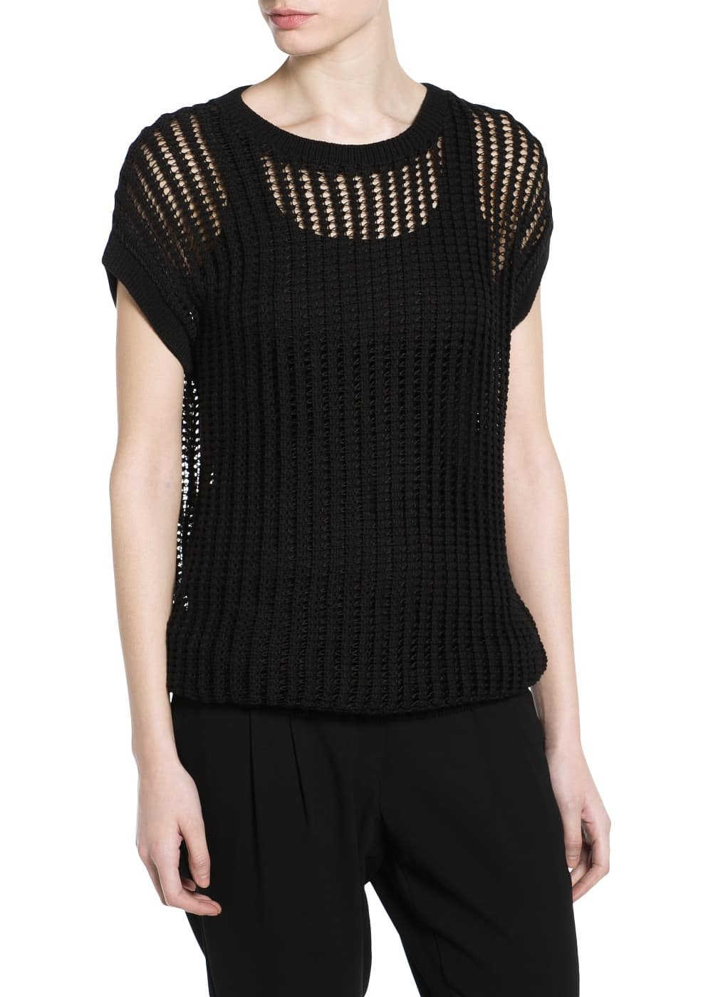 Openwork knit top | MANGO