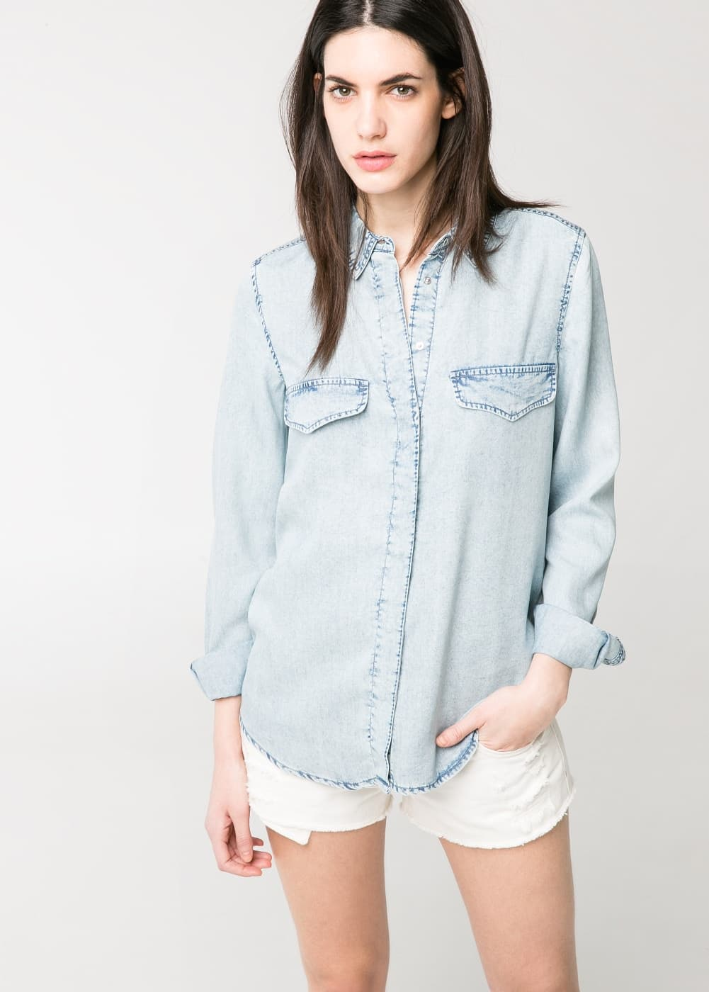 Vintage denim shirt | MANGO MAN
