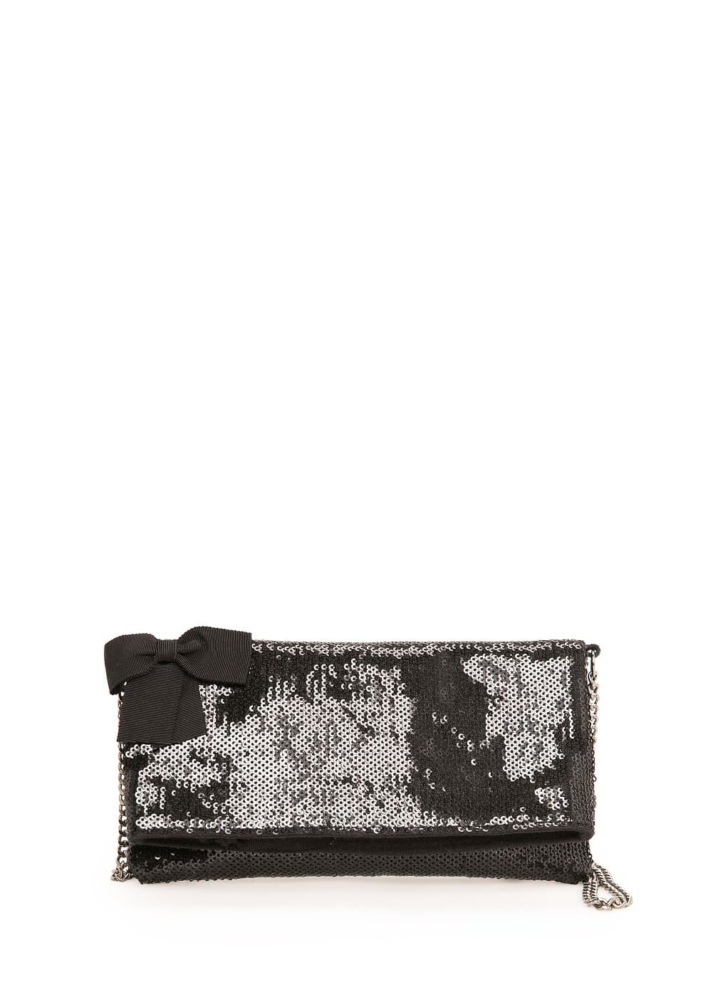 Chain sequin clutch | MANGO