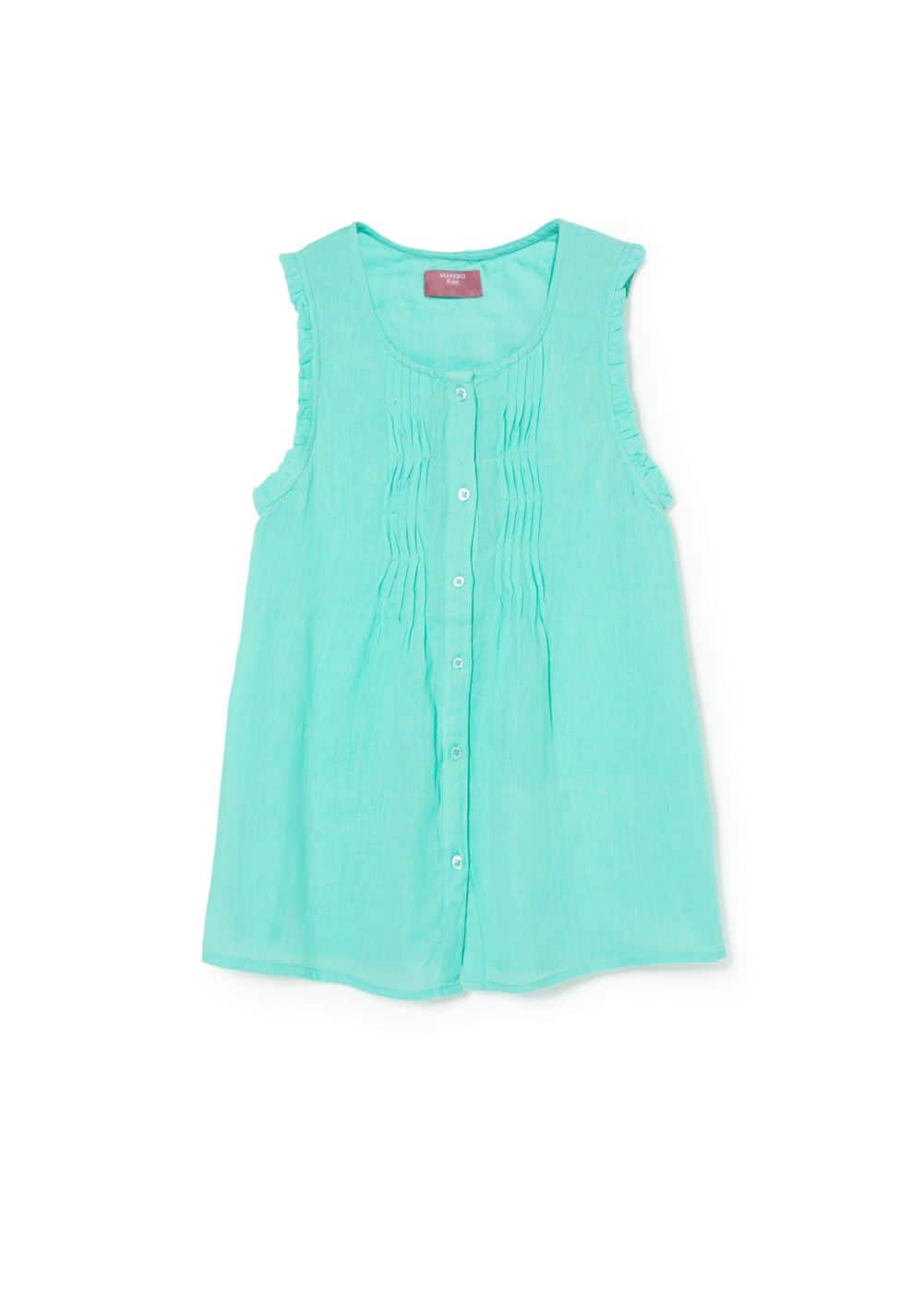 Draped detail blouse | MANGO KIDS