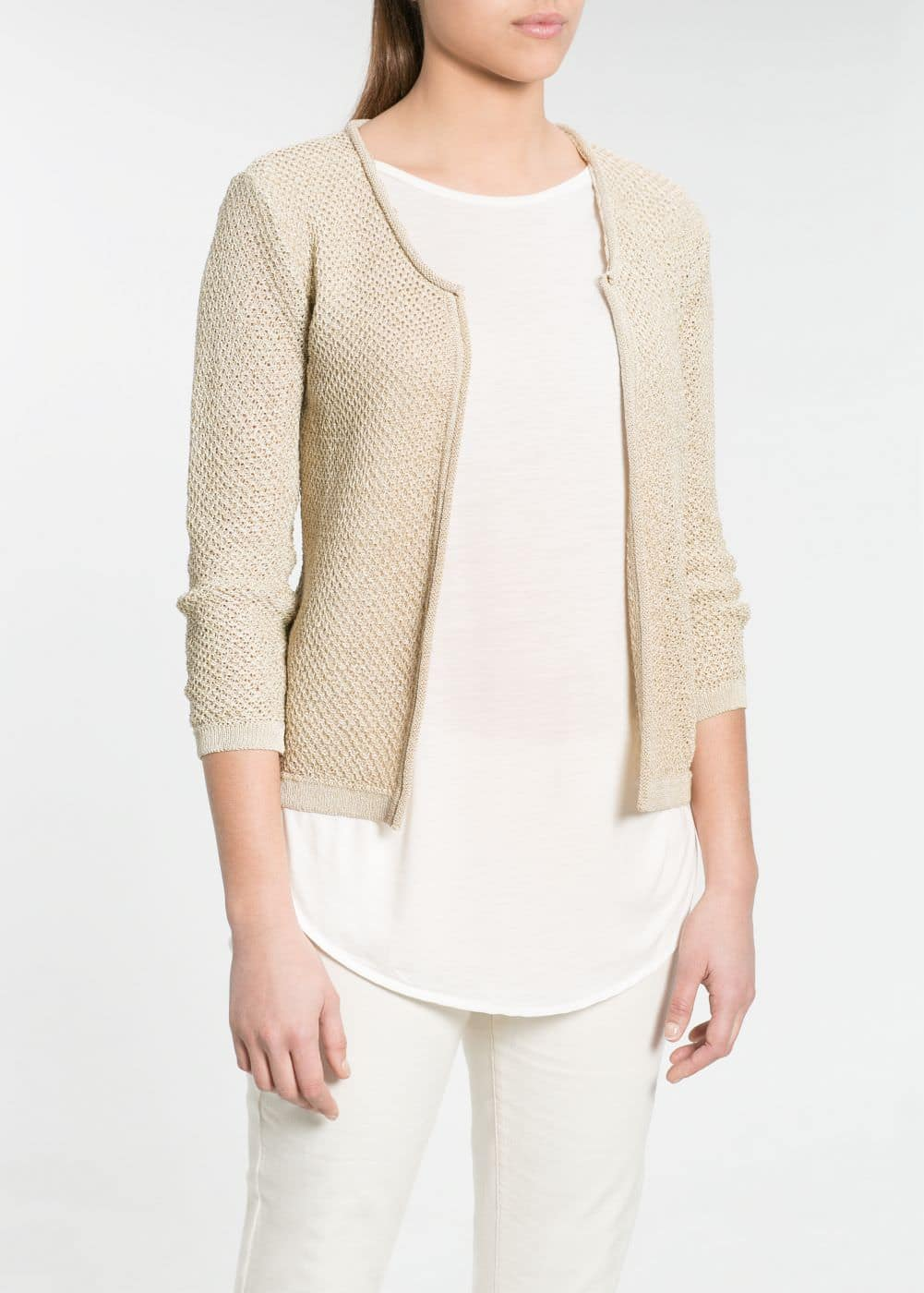 Fancy knit jacket | MANGO