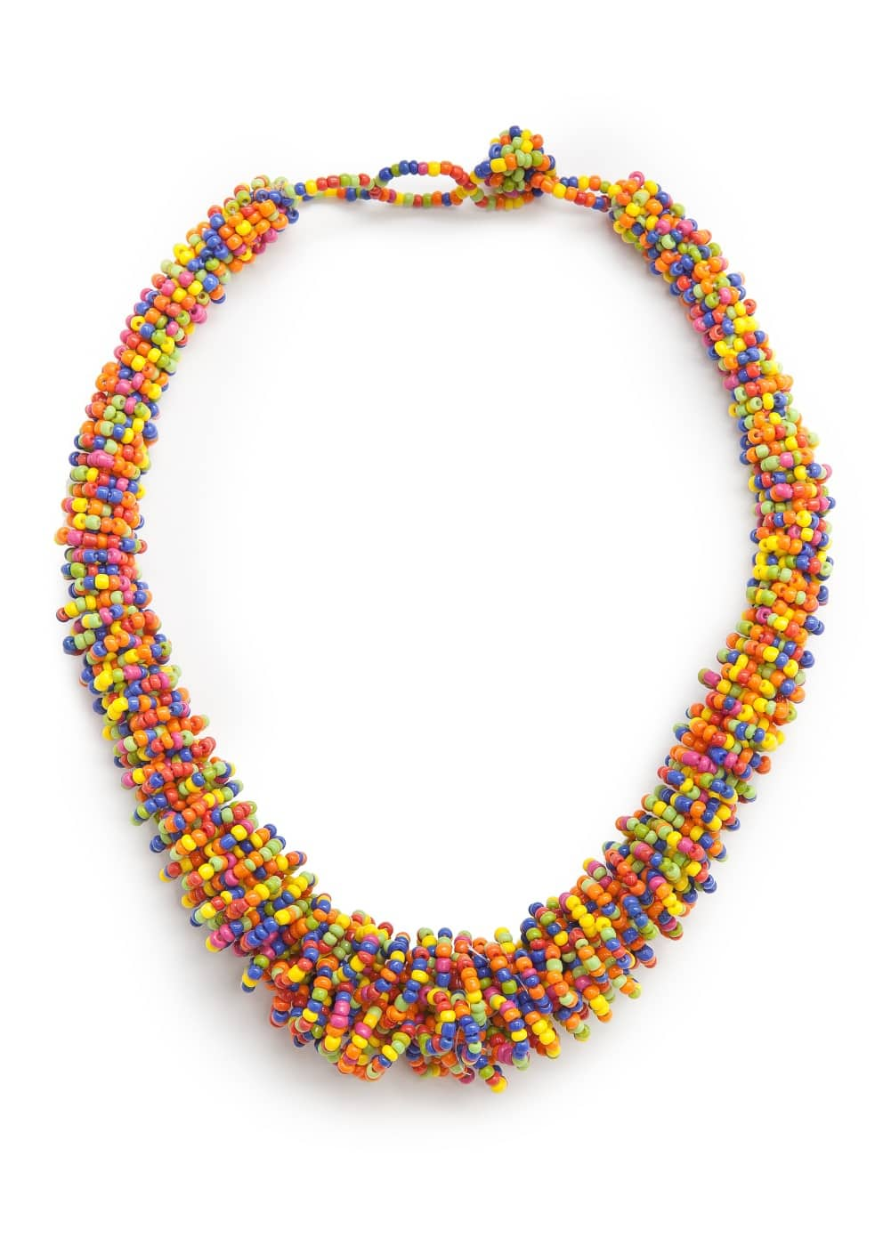 Multicolor bead necklace | MANGO