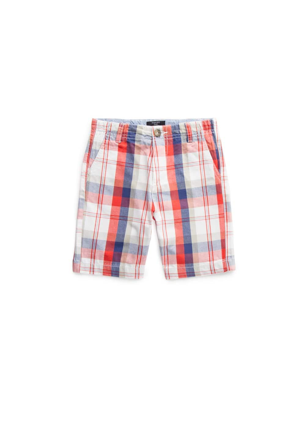 Madras-check bermuda shorts | MANGO