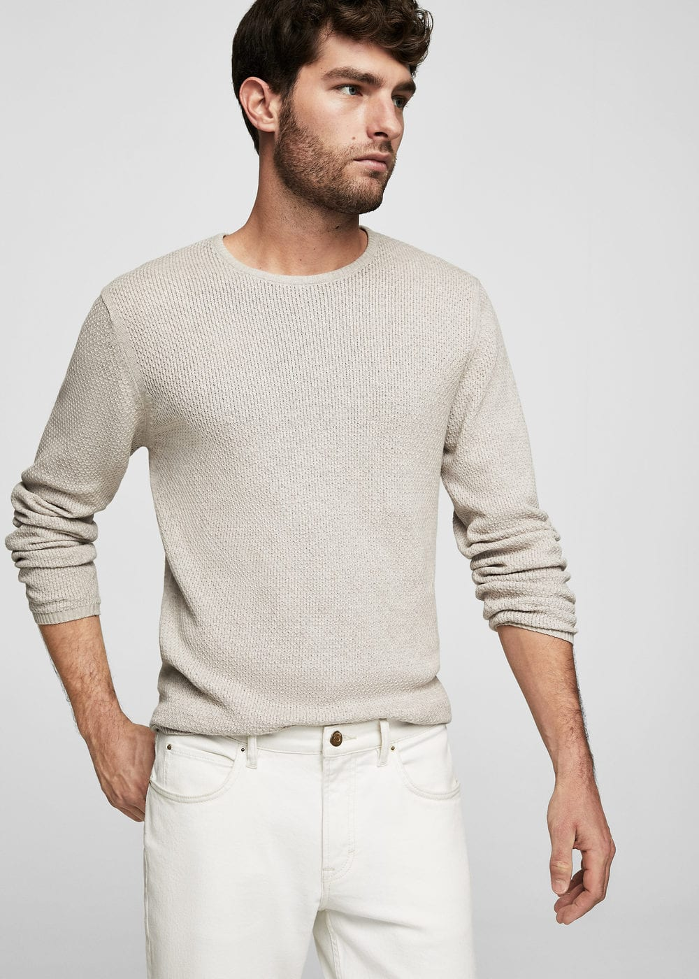 Organic cotton sweater | MANGO MAN