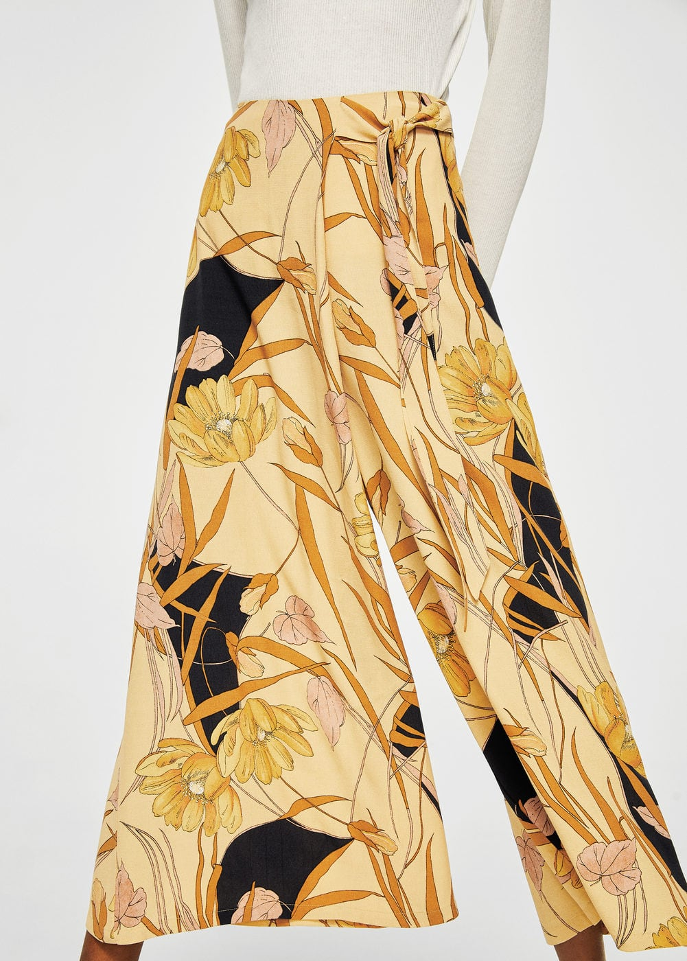 Floral palazzo trousers | MANGO