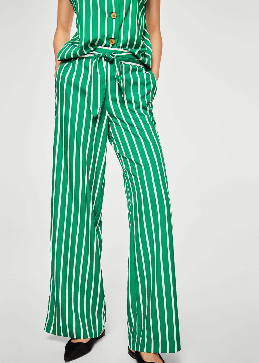 Bow printed trouser | MANGO