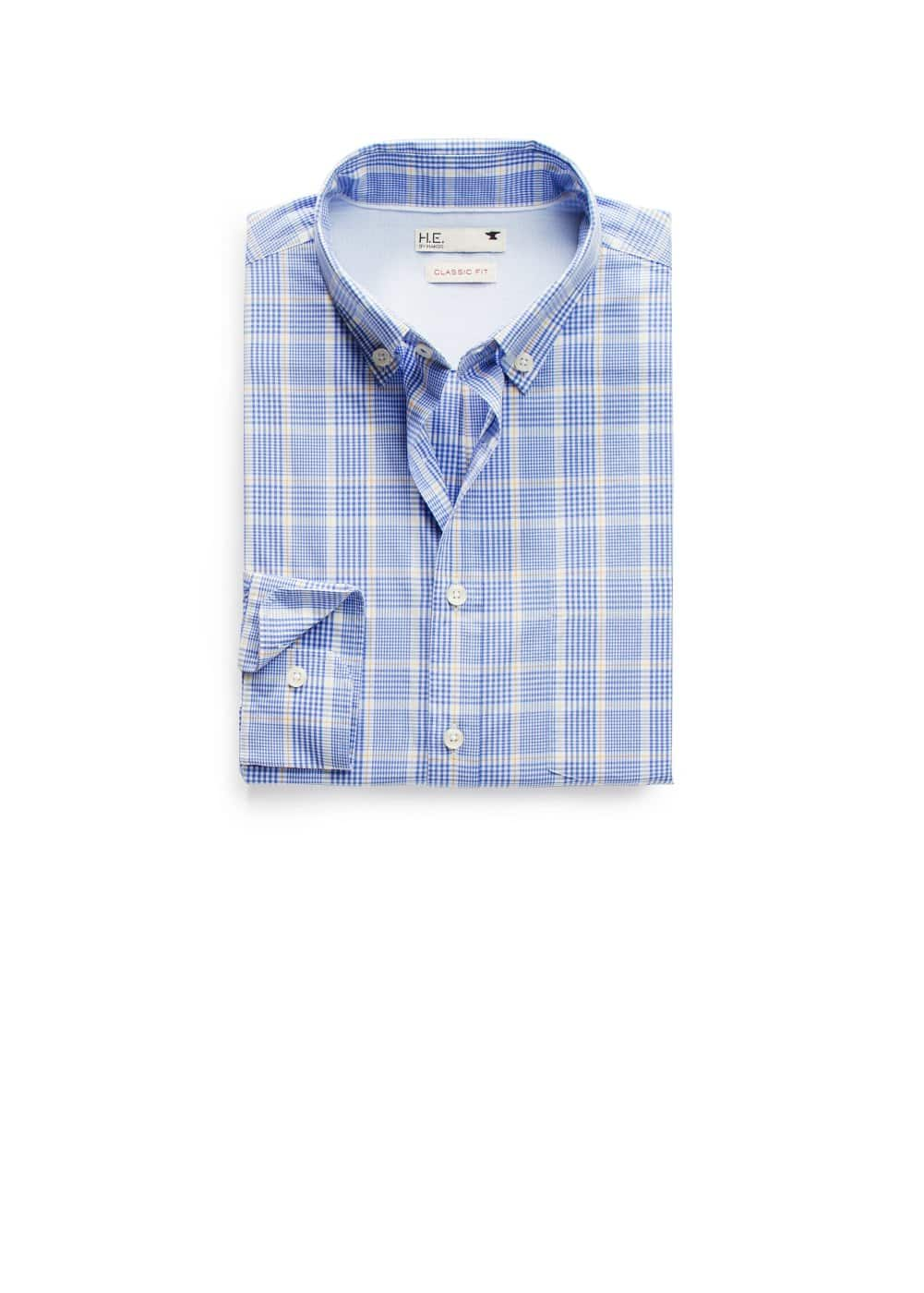 Camisa quadres tall clàssic | MANGO MAN