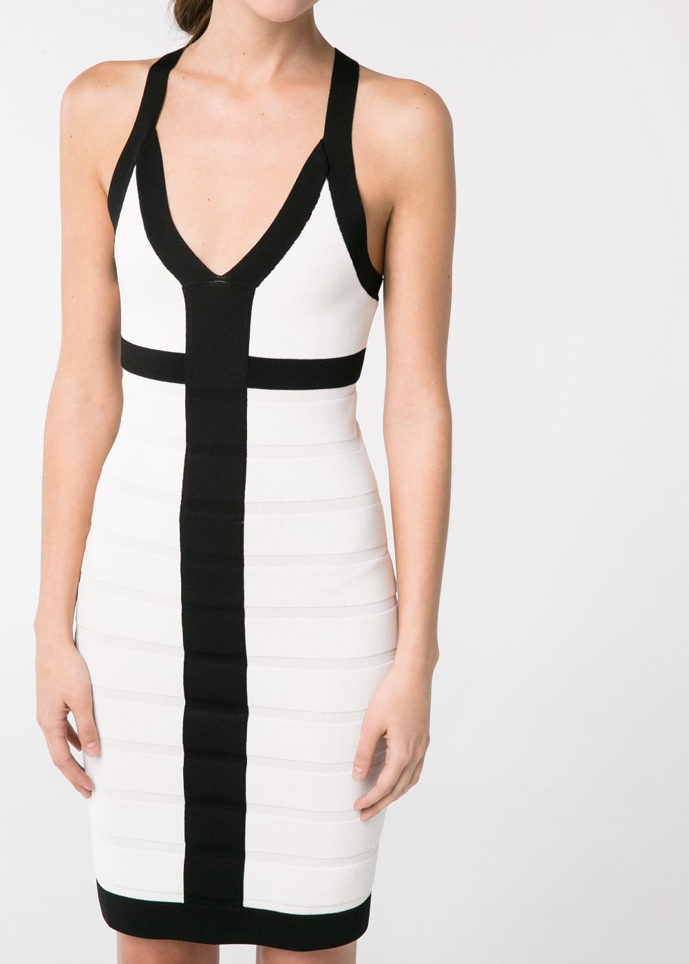 Monochrome bodycon dress | MANGO