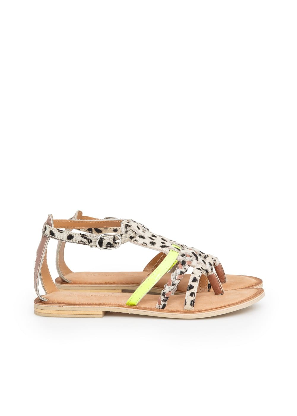 Mixed leather sandals | MANGO