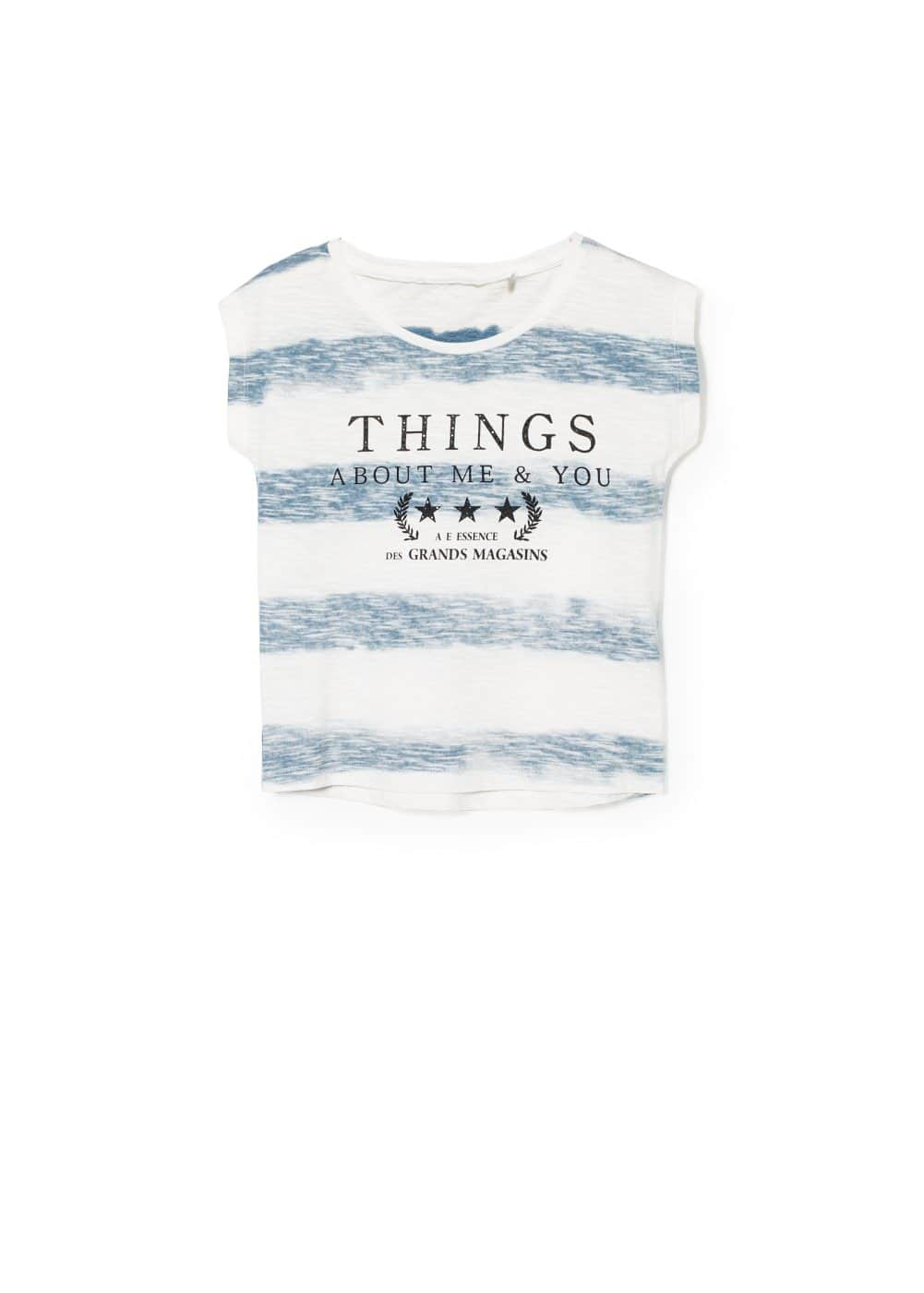 Striped things t-shirt | MANGO KIDS