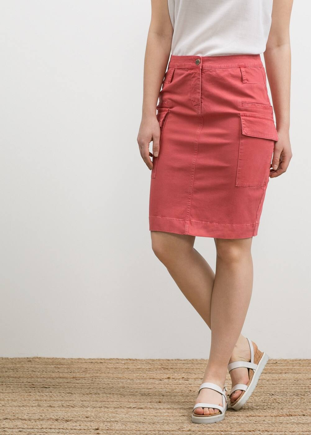 Cotton cargo skirt | MANGO