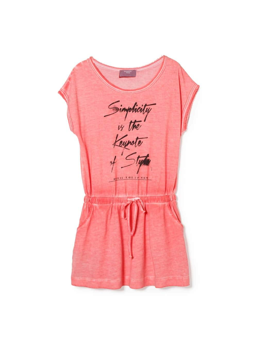 Message dress | MANGO KIDS