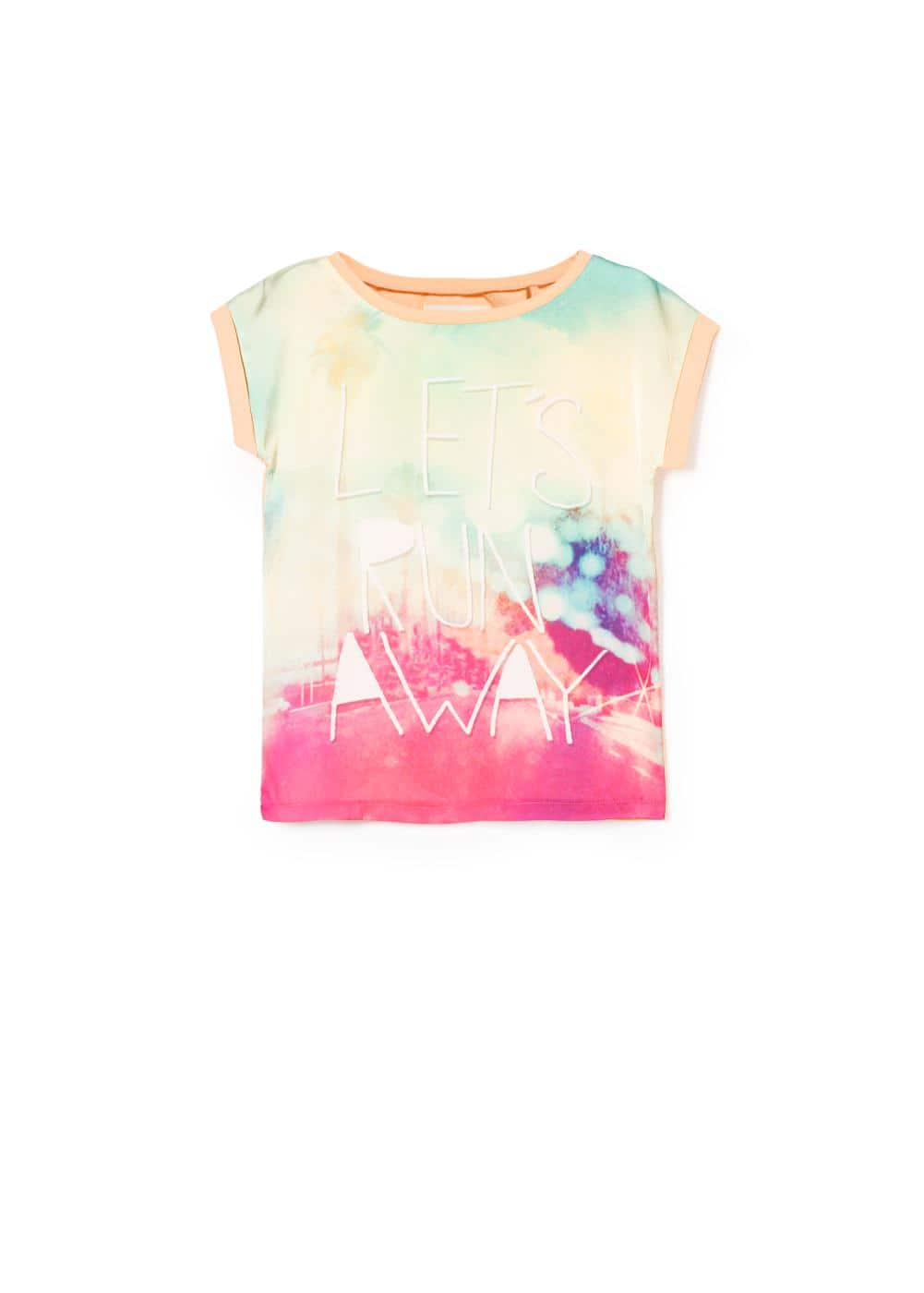 Message printed t-shirt | MANGO KIDS