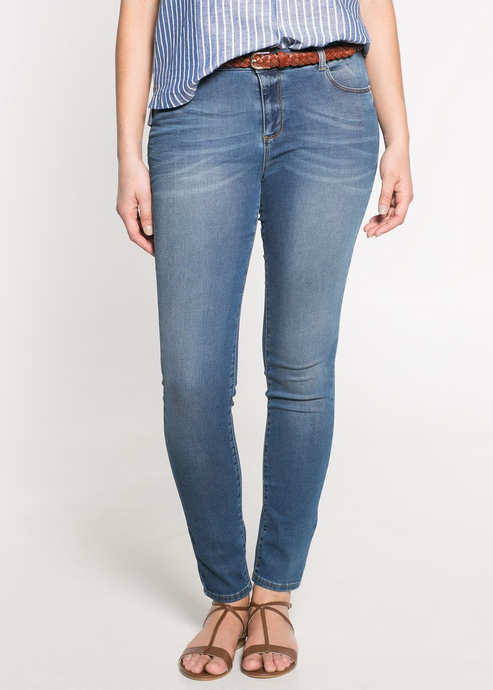 Super slim-fit konuppi jeans | MANGO