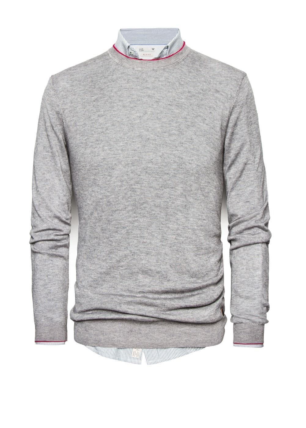 Fine knit wool-blend sweater | MANGO MAN