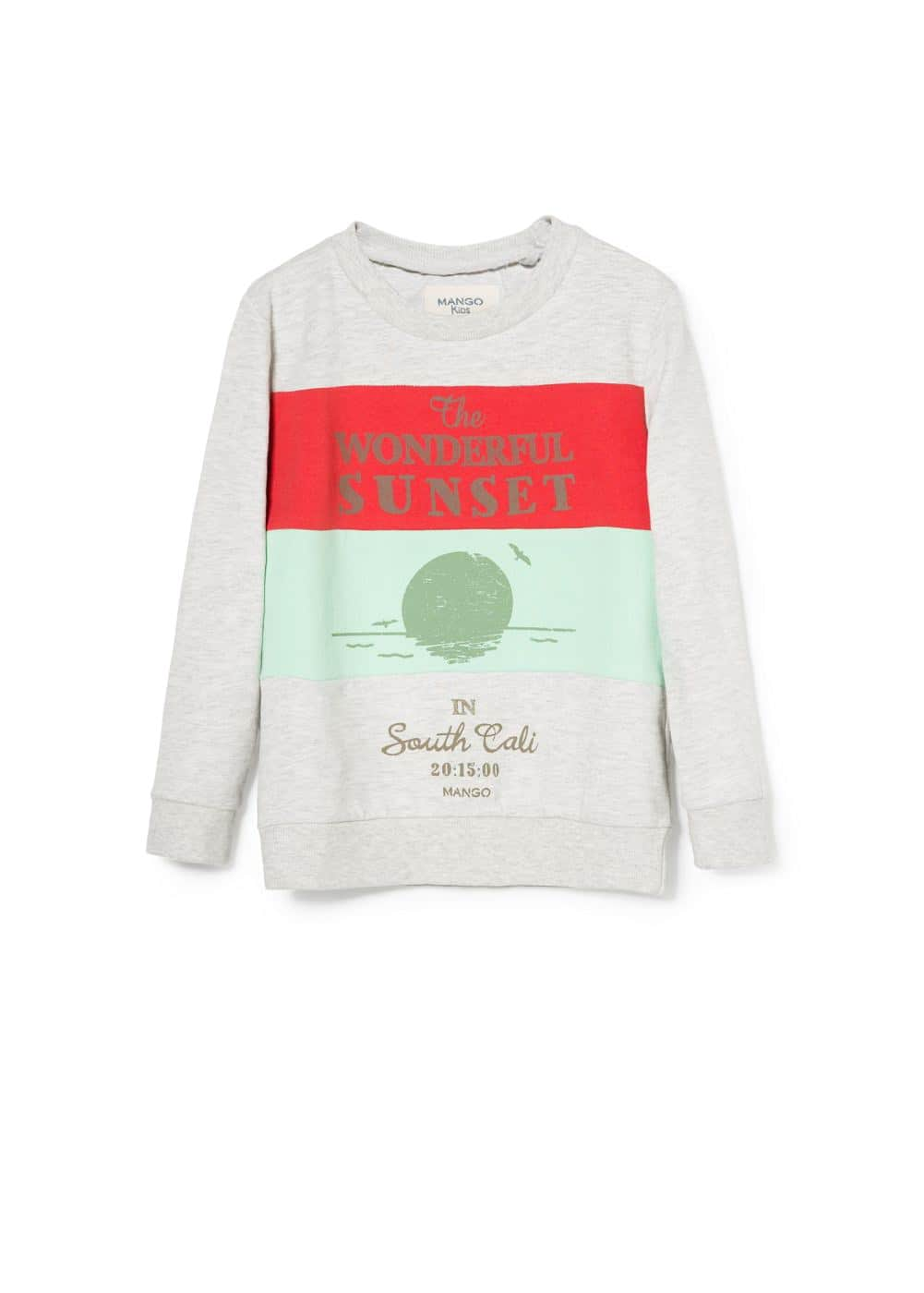 Printed sweatshirt | MANGO KIDS
