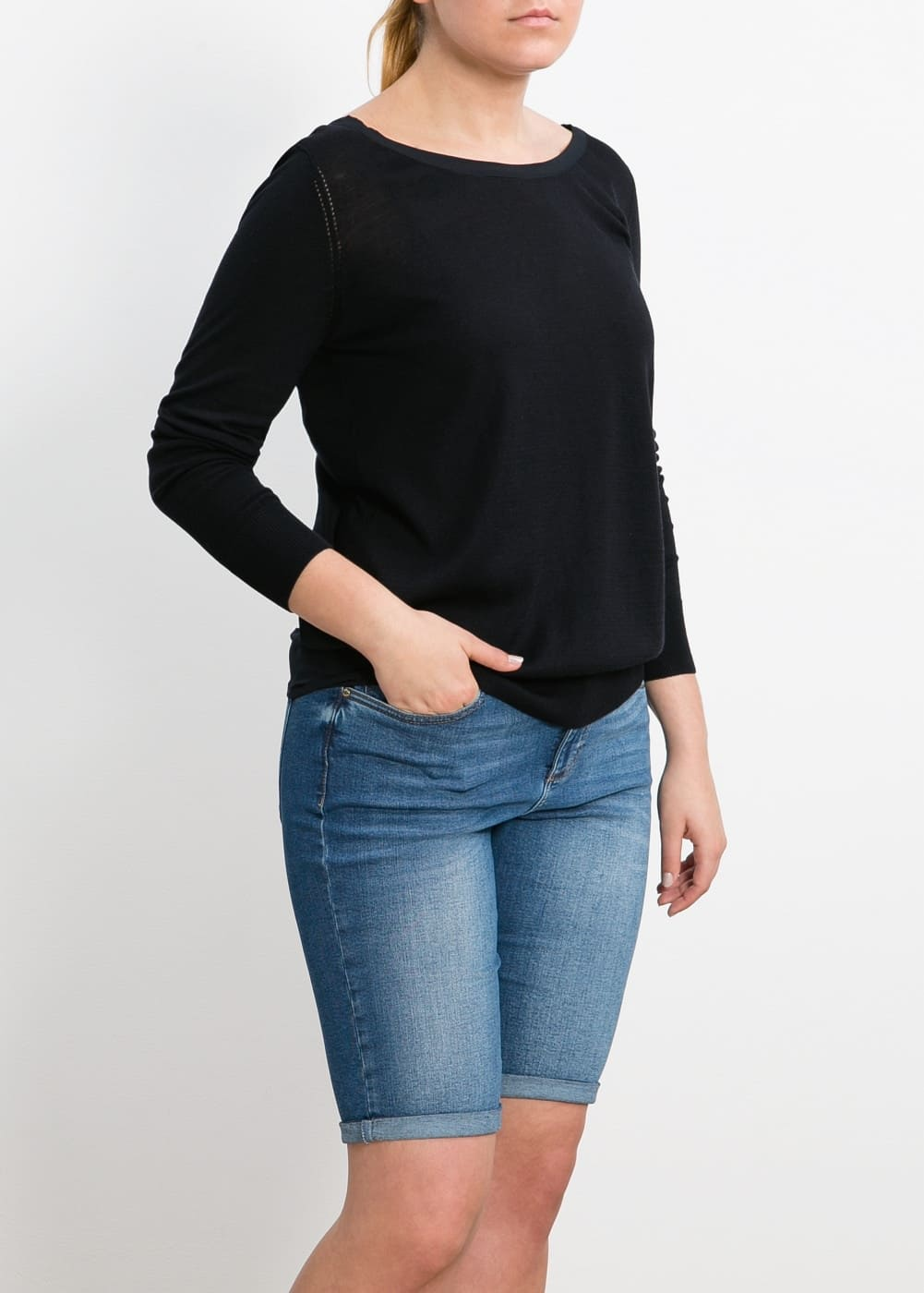 Silk cotton-blend sweater | MANGO