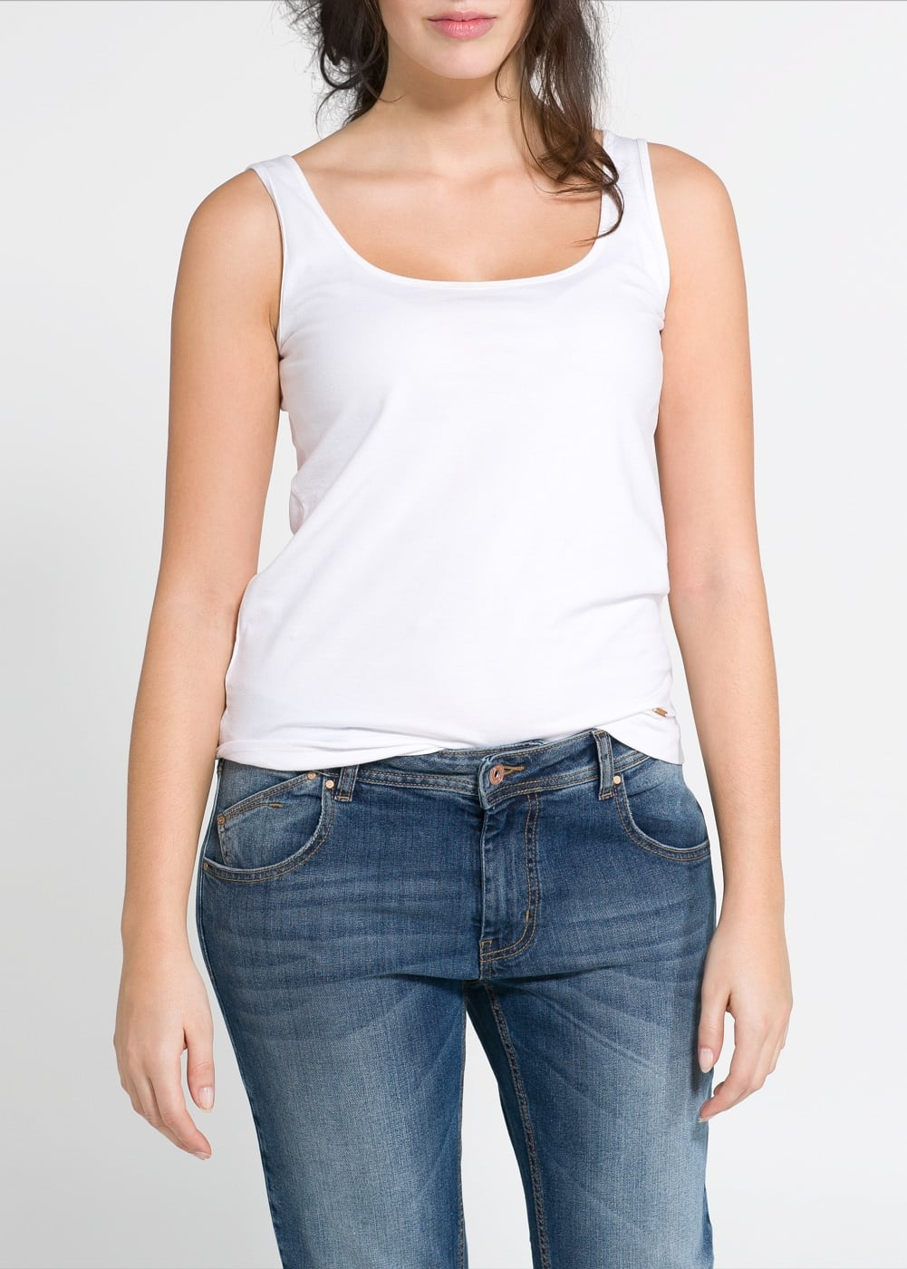 Cotton strap top | MANGO