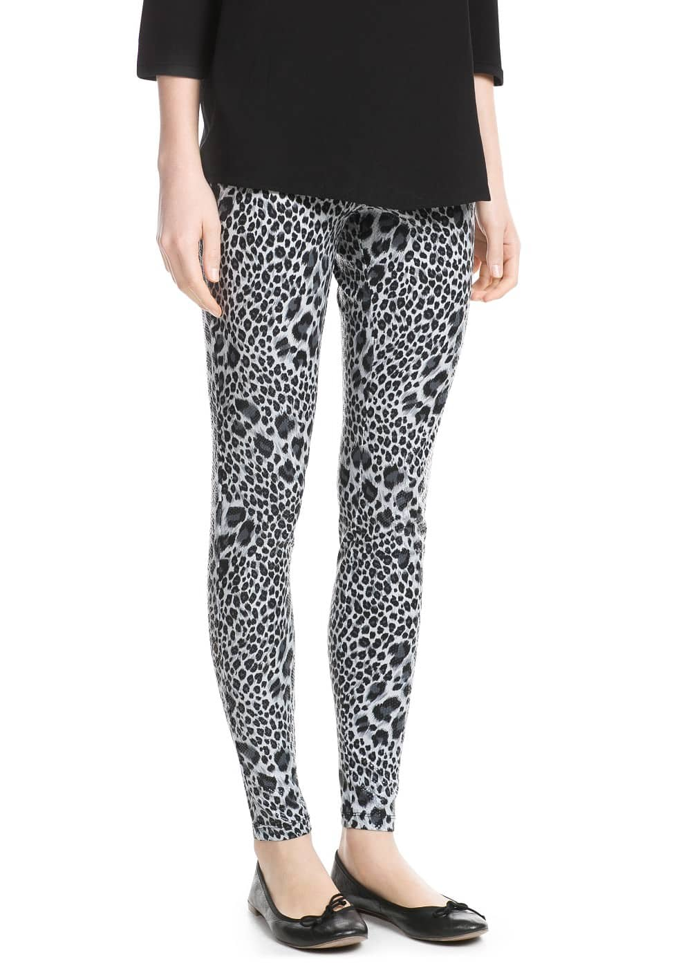Leopard print leggings | MANGO MAN