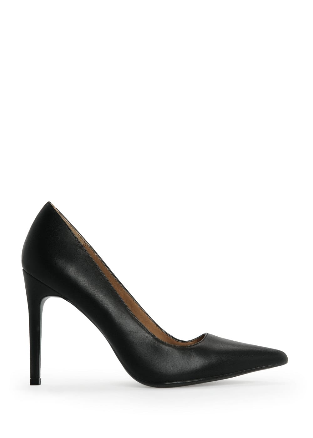 Leather stiletto shoes | MANGO