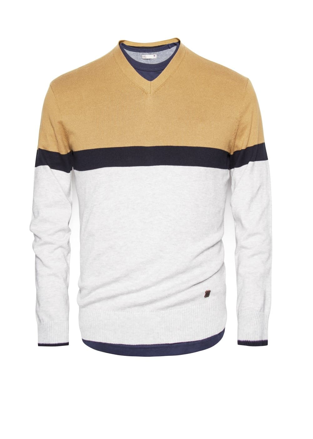 Pullover cotone color block | MANGO