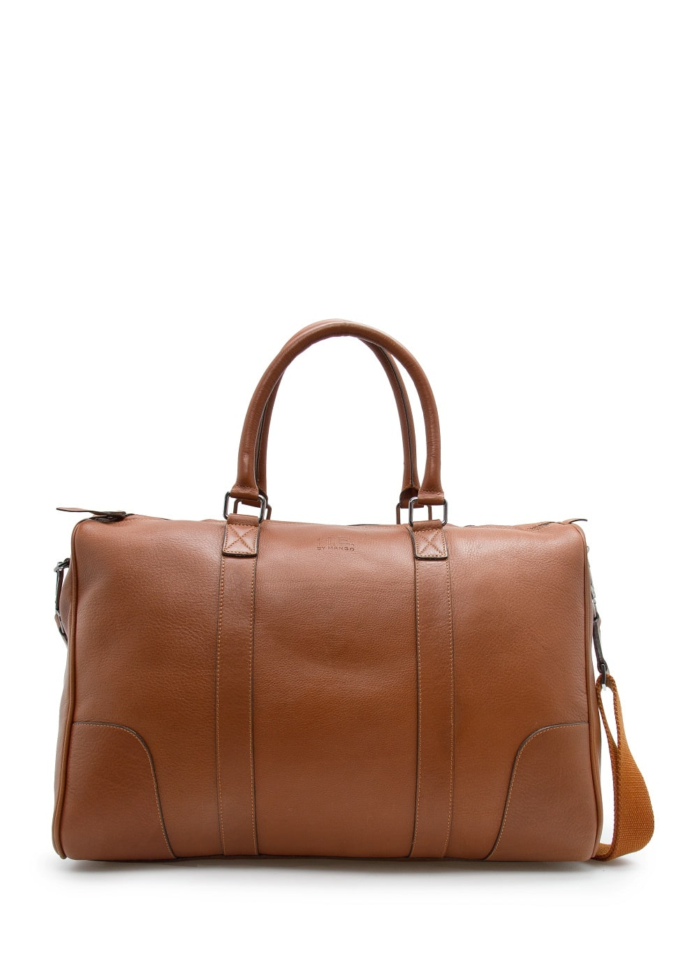 Leather weekend bag | MANGO