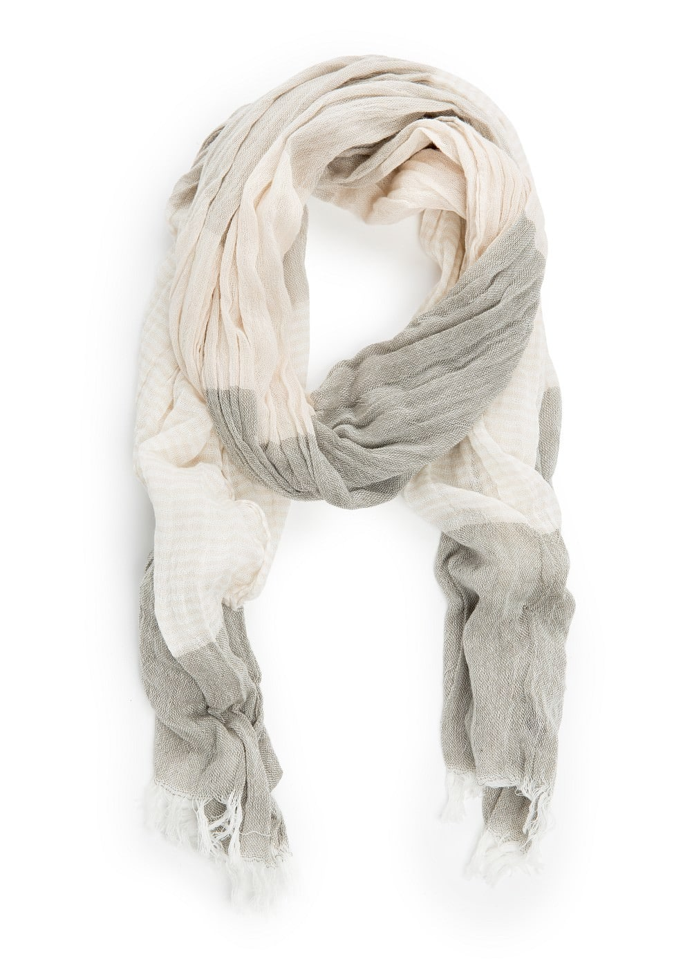 Striped cotton scarf | MANGO