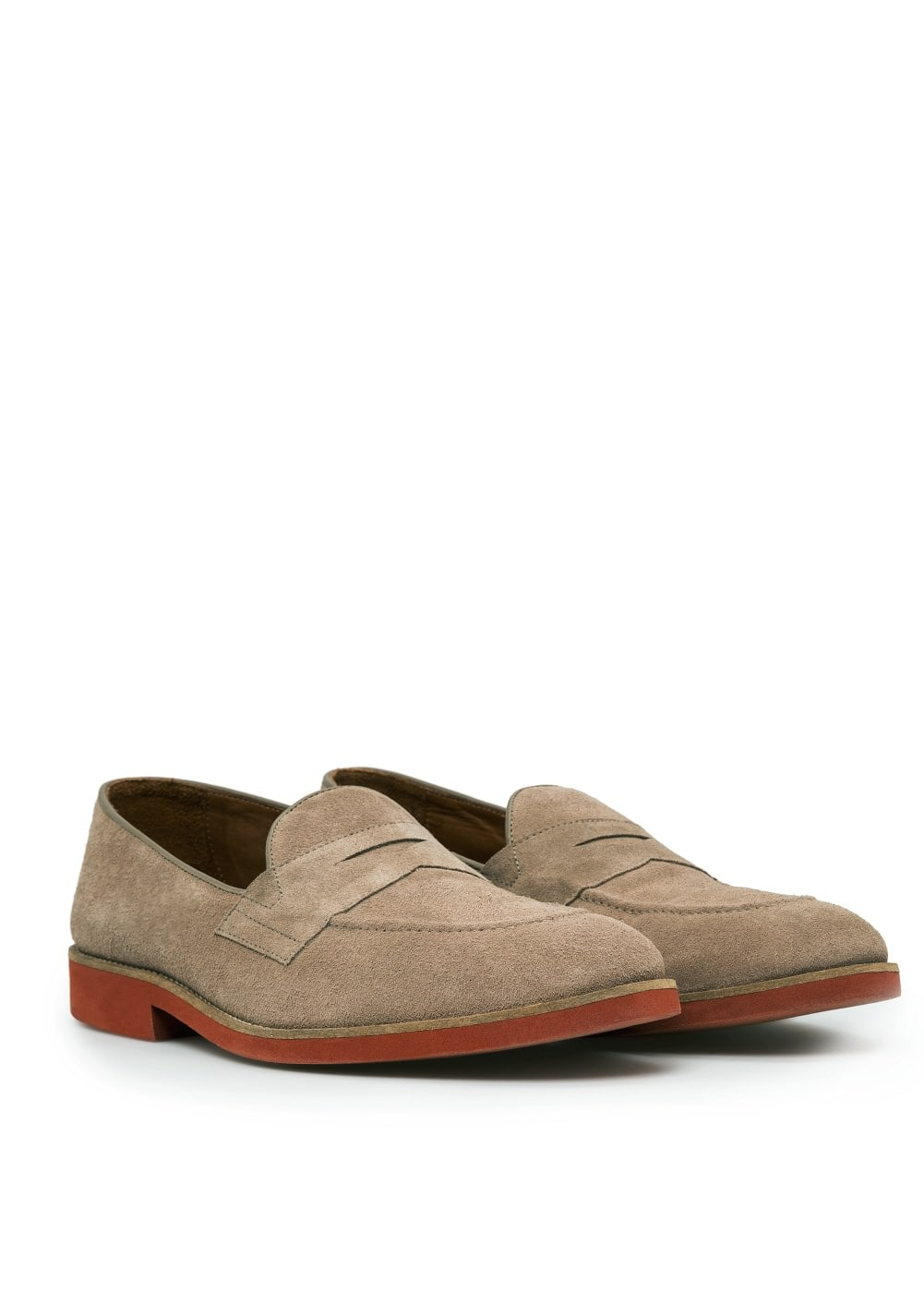 Contrast sole suede loafers | MANGO