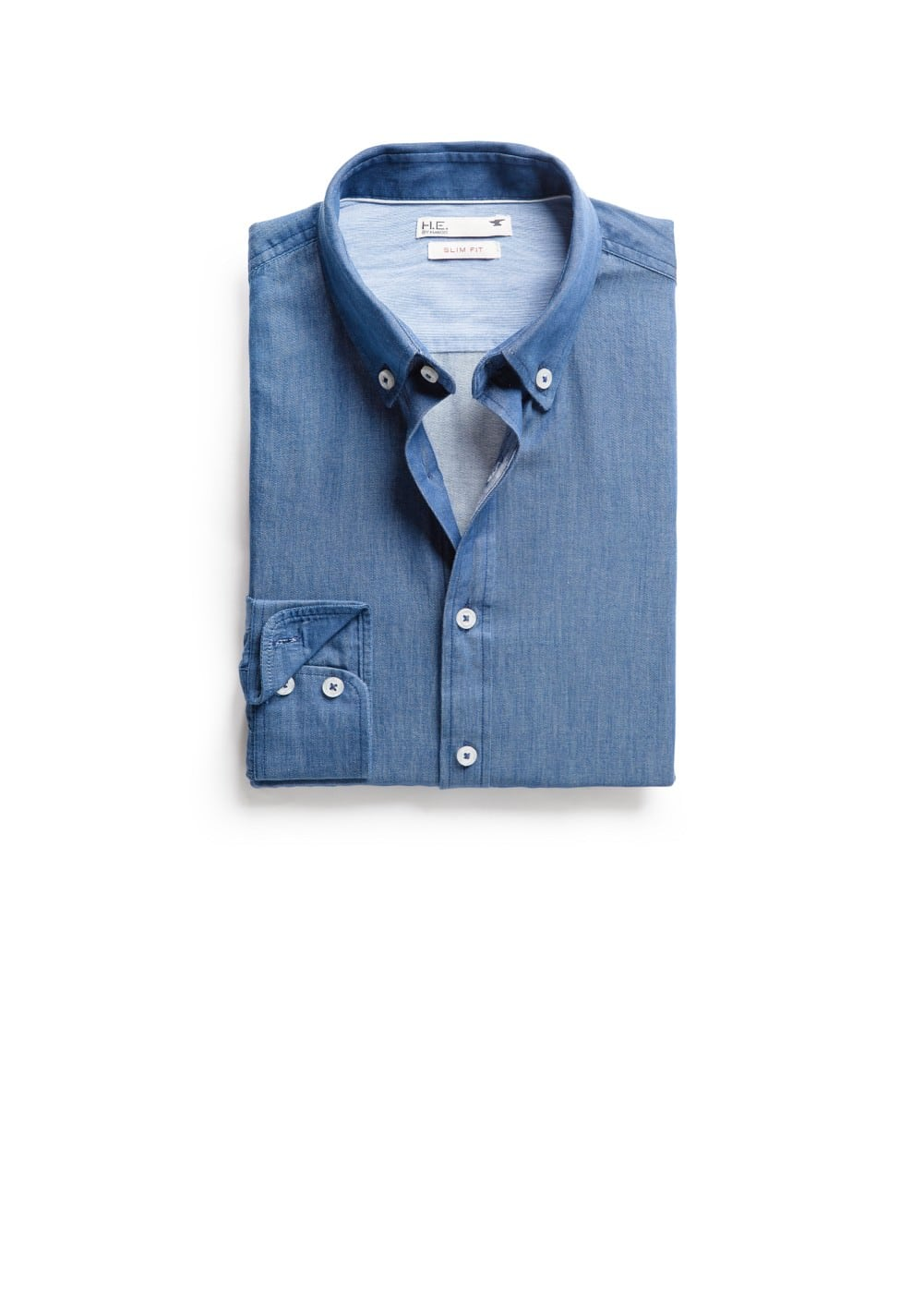 Slim-fit chambray shirt | MANGO MAN