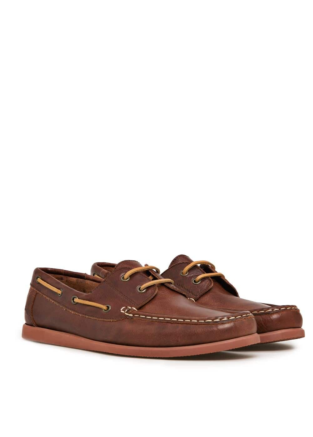 Leather boat shoes | MANGO