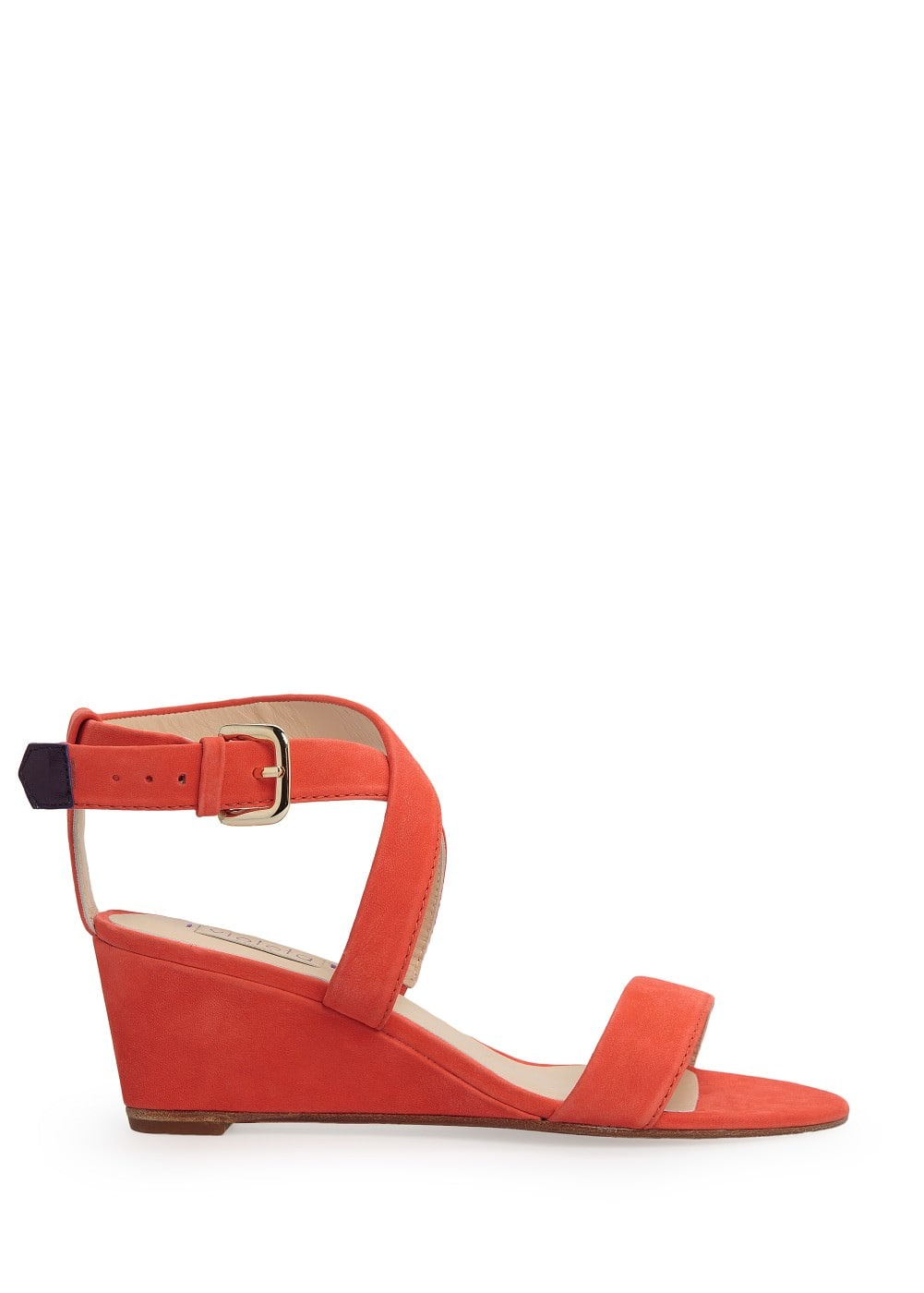 Nubuck wedge sandals | VIOLETA BY MANGO